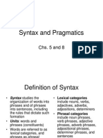 Syntax and Pragmatics