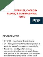 The Ventricles, Choroid Plexus, & Cerebrospinal