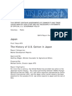 The History of US Cotton in Japan
