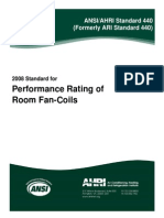 AHRI Standard 440-2008 Performance Rating of Room Fan Coils