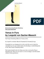 Leopold Von Sacher Venus in Furs