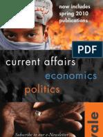 Yale University Press, London - Current Affairs / Economics / Politics Catalogue 09/10