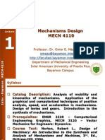 MECN 4110 - Mechanisms Design - Fall 2012_Lecture 01