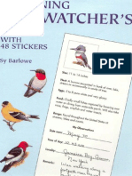Beginning Birdwatcher's Book With 48 Stickers (Dover)