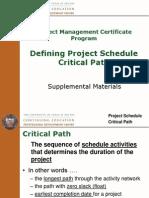 Module 8 - Schedule Critical Path Oct2009