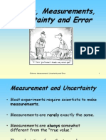 Final Science, Measurements, Uncertainty and Error