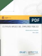 EBEP. Informe de la comisión de expertos