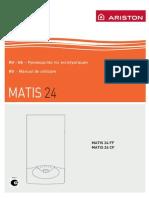 Manual de Utilizare Centrala Ariston Matis 24ff Kit Evac 2013404