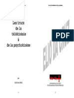Da CRUZ Elio - Les Trucs de La Télékinésie & de La Psychokinèse