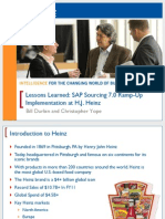 1301 Lessons Learned SAP Sourcing 70 Ramp-Up Implementation at HJ Heinz