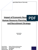 Impact of Economic Recession on Human Resource Planning, Flexibility and Recruitment Strategy