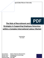 The Role of Recruitment and Selection Strategies in Supporting Employee Retention within a Complex International Labour Market