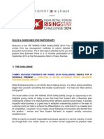 Tommy Hilfiger IRF Rising Star Challenge 2014-Guidelines