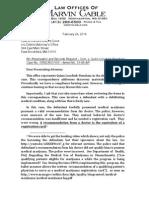 Letter to DA