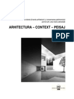 Arhitectura Context Peisaj