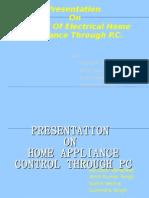 Home Appliance Control Through Pc