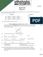 Physics test kinemetics