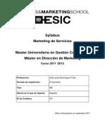Syllabus 9 5 Marketing de Servicios