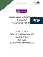 Guia Tecnica Para La Elaboracion de Diagnostico de Salud