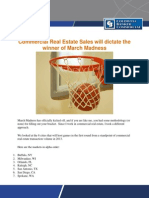 Commercial Real Estate Sales Will Dictate the Winner of March Madness
