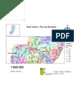 Roteirização do trecho Vitória (ES) - Pico da Bandeira (ES) utilizando ArcGIS