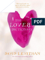 David Levithan - The Lover's Dictionary 2011