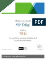 VSP 5.5 Certificate