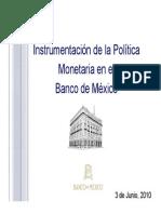 Instrumentación de La Política Monetaria Del BANXICO