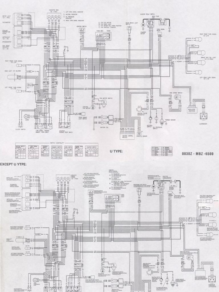 honda hornet 2006 wiring diagram rh scribd com Honda CR 250 Wire Diagram 92 96 Honda Civic Alternater Wiring Schematics