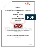 Customer Satisfaction in Mahindra Automobile