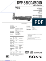 Sony DVP-S560D DVD Player service manual dvps500d.pdf