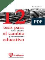 12tesis Cambio Educativo