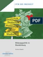 Bildungspolitik in Brandenburg