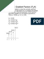 Engineering Economy Geometric Gradient Factors