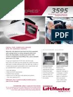 LiftMaster 3595 Garage Door Opener Brochure