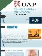 Shiatsu, Acupuntura y Reflexología