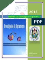 Informe de Investigación Operativa I