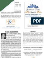 2014 Summer Hope Benefit Invite