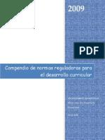 Normas Reguladoras Para El Desarrollo Curricular 2009