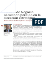 Modelo de Negocio Eslabon Perdido de La Estrategia