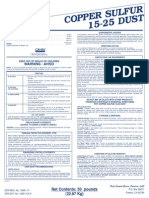 PHT Copper Sulfur 15-25 Dust Label