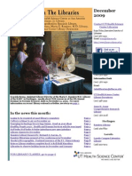 News From the Libraries - UT HSC Newsletter December 2009