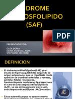Sindrome Antifodfolipido -Saf