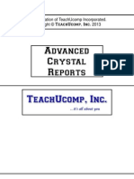 Crystal Reports- Advanced