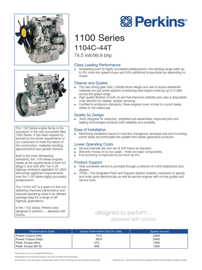 Perkins 1104C-44T Engine PN1644 | Engines | Rotating Machines