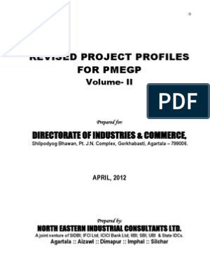 PMEGP Revised Projects (Mfg. & Service) Vol 2 | Power ... on