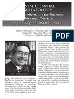 2010 Issue 6 - Postmillennial Eschatology And Its Implications for Business, Ethics and Practice - Counsel of Chalcedon