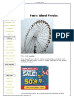 Ferris Wheel Physics