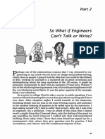 So What if Engineers Can Not Talk or Write