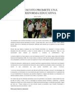 Marlon Escoto Promete Una Tercera Reforma Educativa